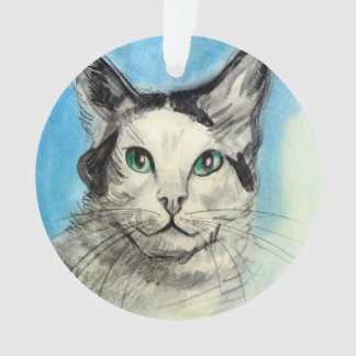 Cat in Blue, Francis Picabia Ornament