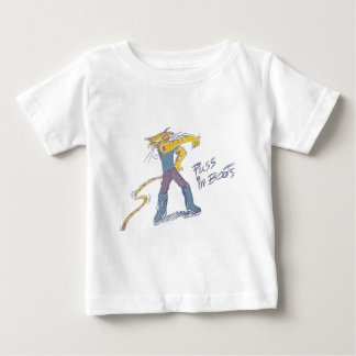Cat in Boots Showing His Tattoo Infant T-shirt