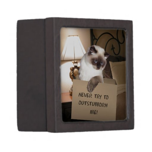 Cat in Box Himalayan Premium Keepsake Boxes