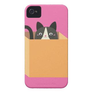 Cat in  box iPhone 4 Case-Mate case