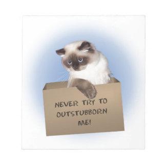 Cat in Box Memo Pads