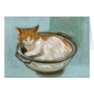 Cat in Casserole Greeting Card