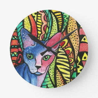 Cat in Color Wall Clock