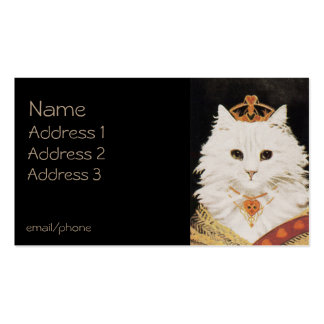 Cat in Crown Double-Sided Standard Business Cards (Pack Of 100)