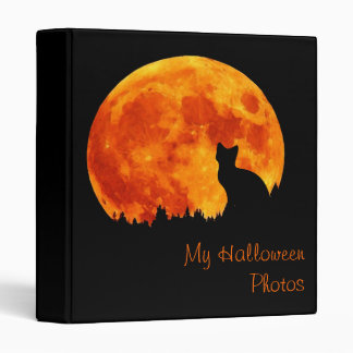 Cat in full orange moon Avery Binder