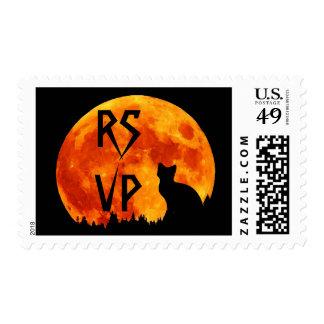 Cat in full orange Moon RSVP Postage