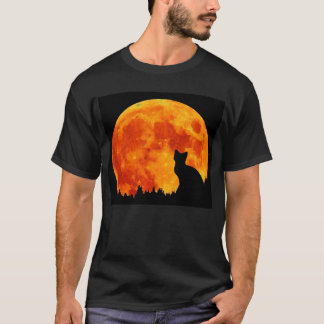 Cat in full orange Moon T-Shirt