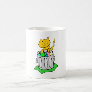 Cat In Garbage 11 Oz Magic Heat Color-Changing Coffee Mug