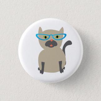 Cat in Glasses Button