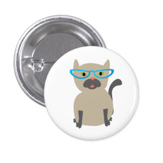 Cat in Glasses Button