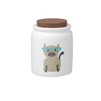Cat in Glasses Candy Dishes