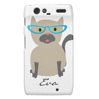 Cat in Glasses Customizable Droid RAZR Cover