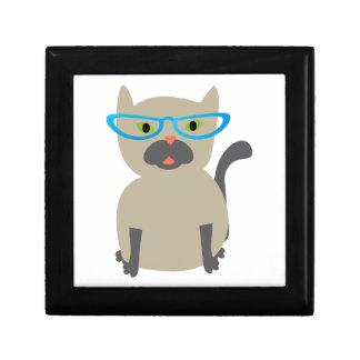 Cat in Glasses Keepsake Boxes