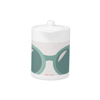 Cat In Glasses Teapot