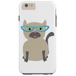 Cat in Glasses Tough iPhone 6 Plus Case