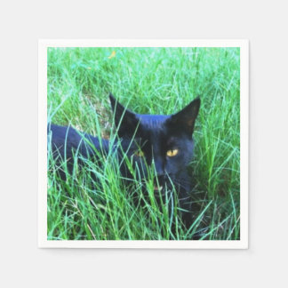 Cat in Grass Disposable Napkin