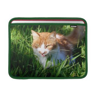 Cat in grass sleeve for MacBook air