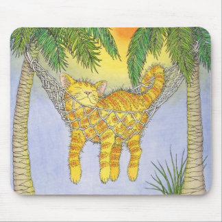 CAt in hammock Mouse Pad