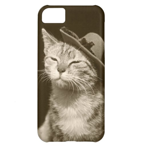 Cat In Hat Cover For iPhone 5C
