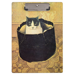 Genial Cat In Hatbox, Solomon Meijer Clipboard