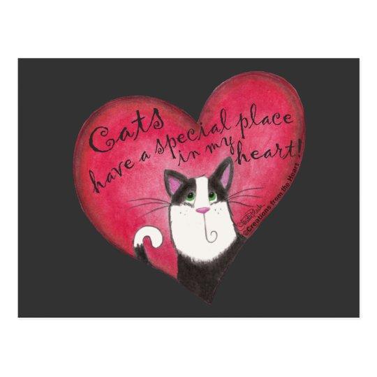 Cat in Heart Postcard