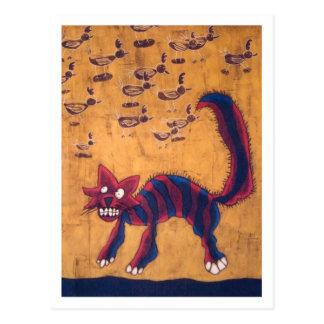 Cat in Henhouse Postcard