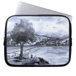 Cat in Landscape Sleeve Laptop Computer Sleeve