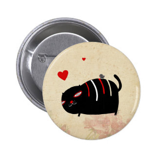 Cat in Love Button by Krize