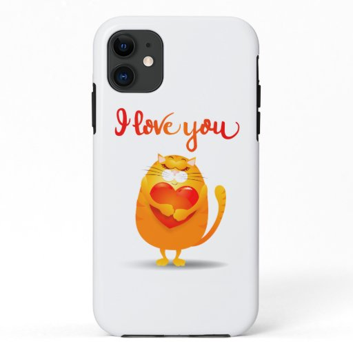 Cat in Love iPhone / iPad case