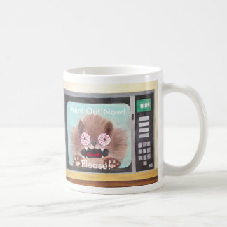 Cat in Microwave Classic White Coffee Mug
