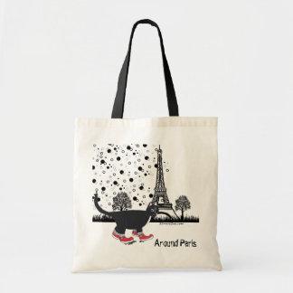 Cat in Paris Budget Tote Bag