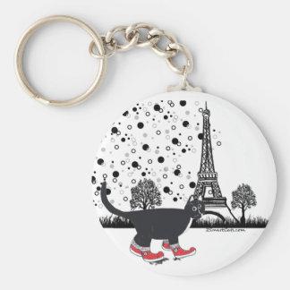 Cat in Paris key chain