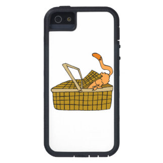 Cat In Picnic Basket iPhone 5 Covers