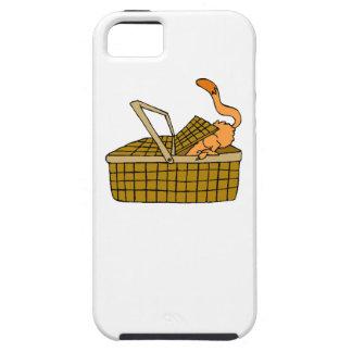 Cat In Picnic Basket iPhone 5 Cases