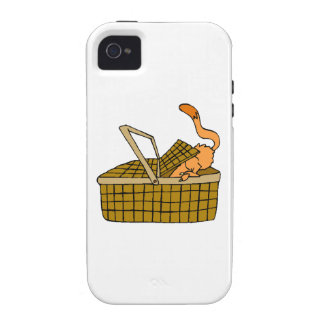 Cat In Picnic Basket Vibe iPhone 4 Case