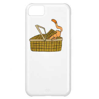 Cat In Picnic Basket iPhone 5C Covers