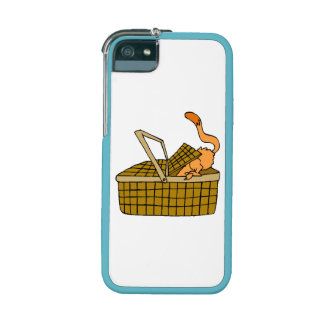 Cat In Picnic Basket iPhone 5/5S Case