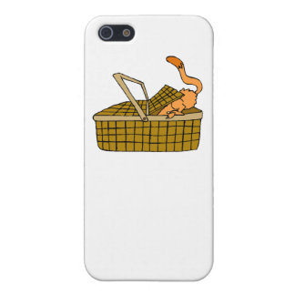 Cat In Picnic Basket Case For iPhone 5