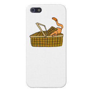 Cat In Picnic Basket iPhone 5/5S Covers