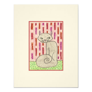 Cat in Pink Room ACEO Card