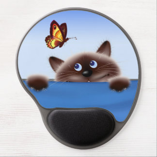 Cat in Pocket Gel Mouse Pad