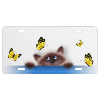 Cat in Pocket License Plate