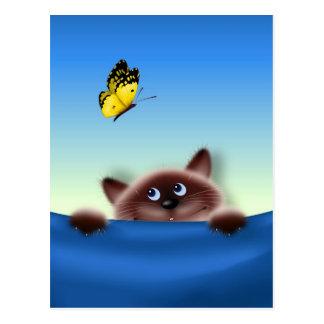 Cat in Pocket Postcard