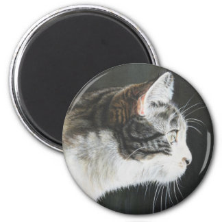 Cat in Profile by Cindy Agan Refrigerator Magnets