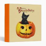Cat in Pumpkin Halloween Binder