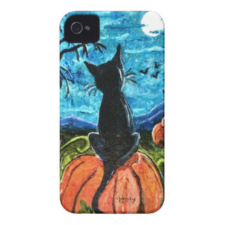 Cat in pumpkin patch Blackberry Bold Case