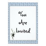 """Cat In Pussywillow 5"""" X 7"""" Invitation Card"""
