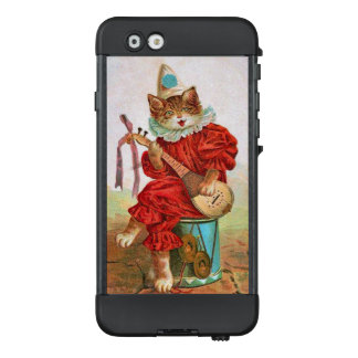 Cat in Red Jester Outfit Hat Playing Madolin Drum LifeProof NÜÜD iPhone 6 Case