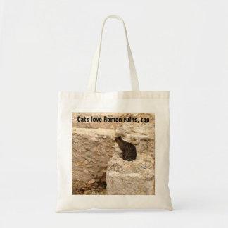 Cat in Roman Ruins Tote Bag