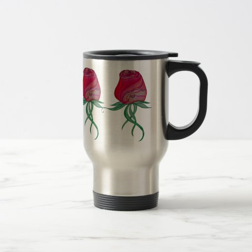 Cat in Rose for Those Who Travel 15 Oz Stainless Steel Travel Mug